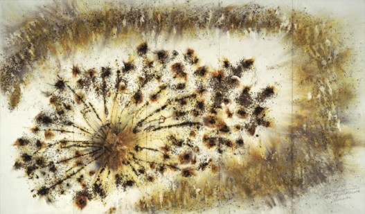 Exploding House, Gunpowder on paper, 2006